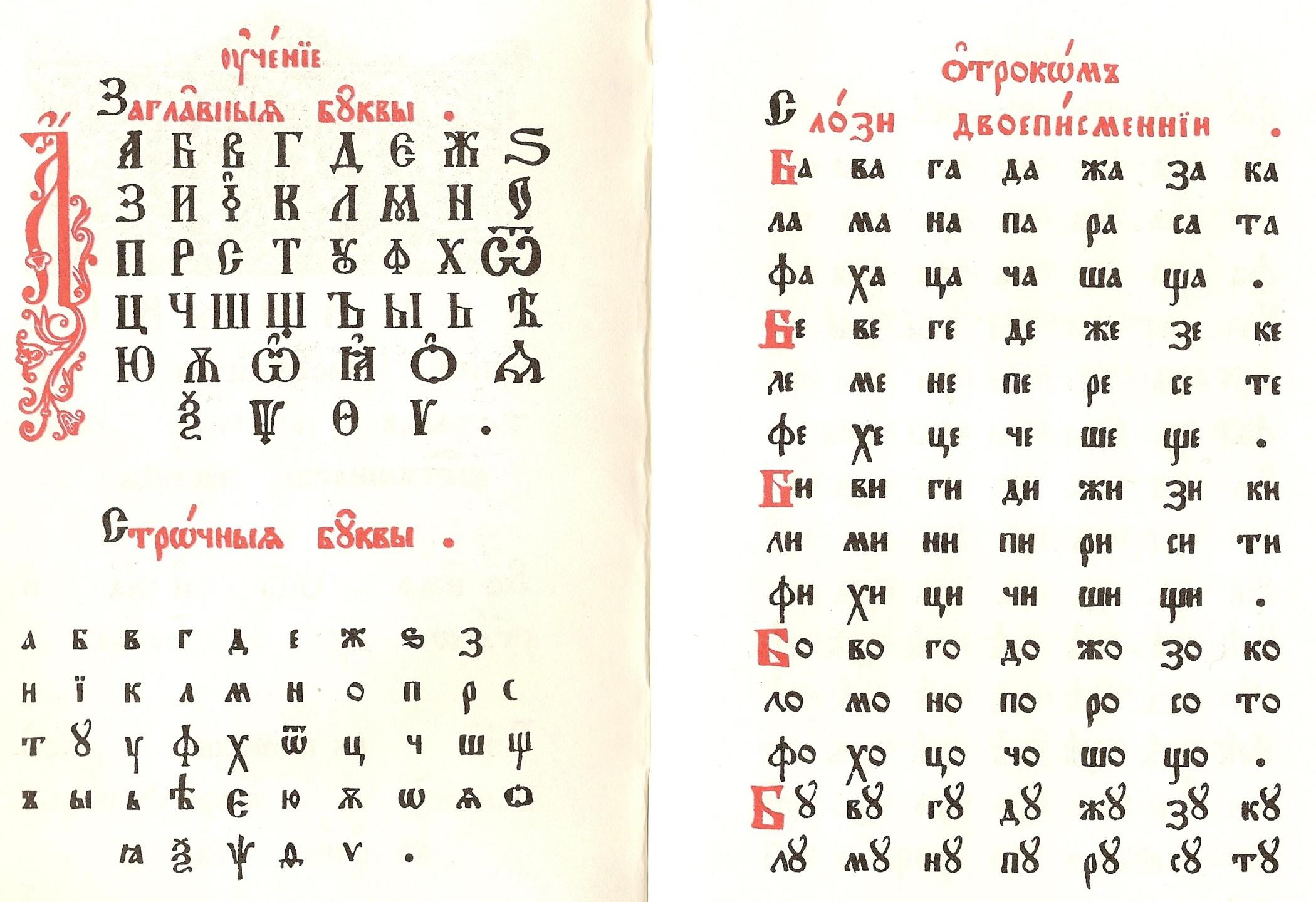 russian alphabet or
