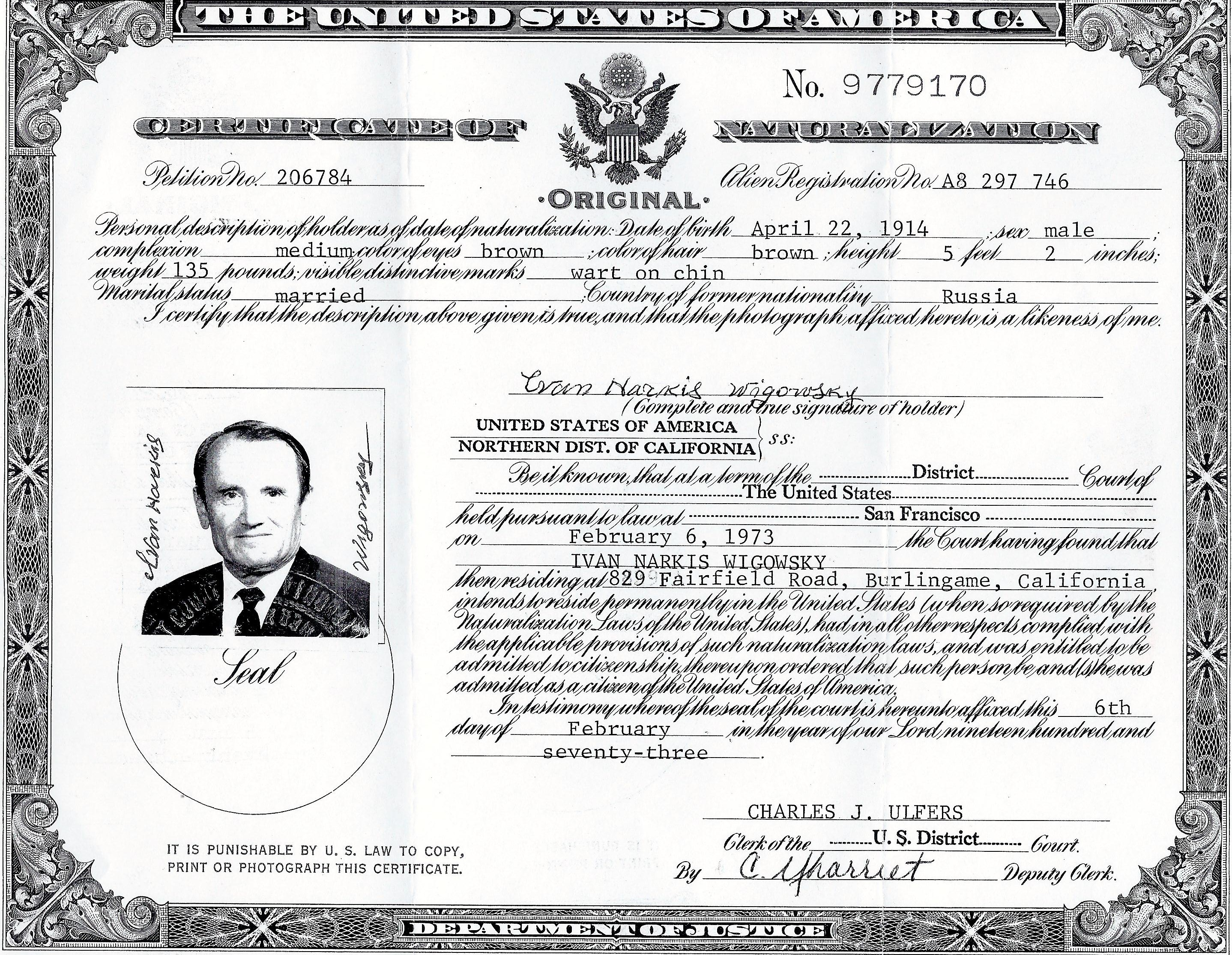 In honor of my parents ivans certificate of naturalization us citizen 1betcityfo Images